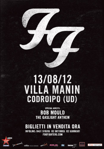 Foo Fighters italian tour
